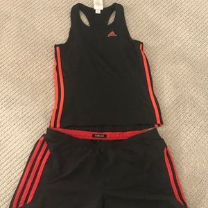 Adidas ClimaChill shorts and T sets